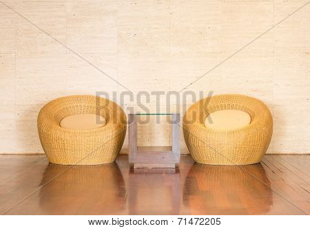 Wicker Chair Decorative Luxury Modern