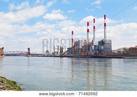 Power station near the water