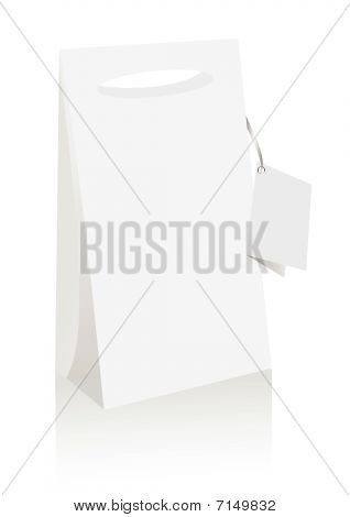 Illustration of a shopping bag, isolated on white background