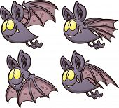 Bat flight cycle. Vector clip art illustration with simple gradients. Each on a separate layer.  poster
