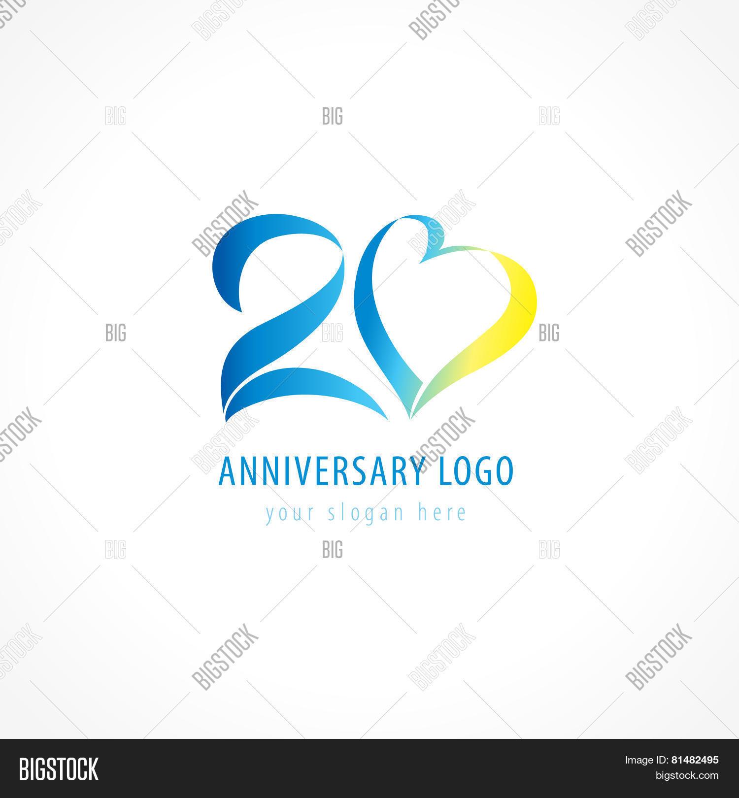 Anniversary 20 Years Vector Photo Free Trial Bigstock