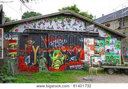 Christiania - Self-proclaimed Autonomous Neighbourhood In Copenhagen, Denmark