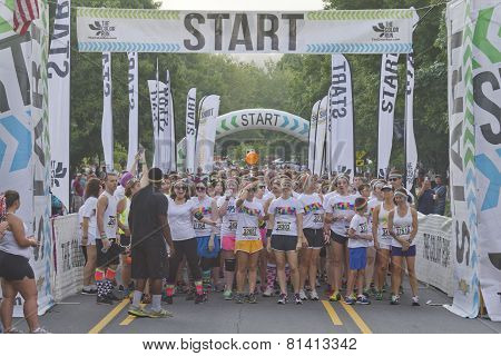 Color Runners Raring To Start