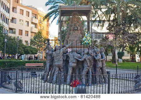 Sculpture Set Carrying Around The Image Of El Rocio