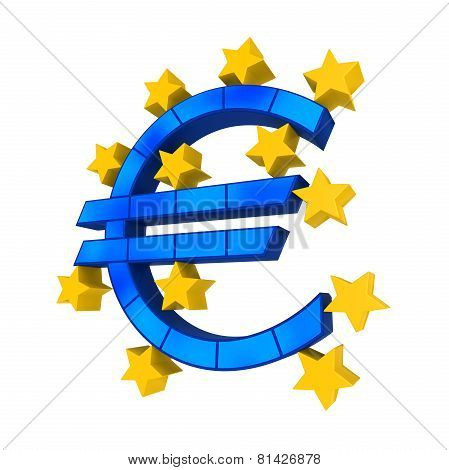 European Union Symbol isolated on white background. 3D render poster
