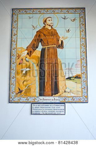 St. Francis Of Asis Glazed Tile