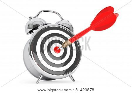 Alarm Clock With Target And Dart Arrow