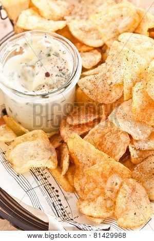 Homemade Chips With Dip