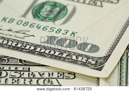 lots of one hundred dollar banknotes, background