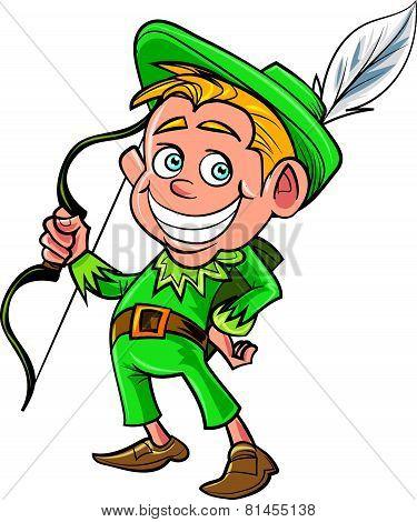 Cartoon cute Robin Hood