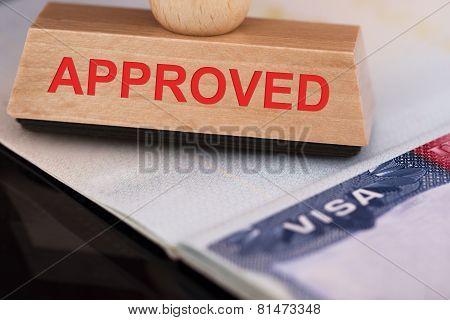 Approved Stamp On Visa