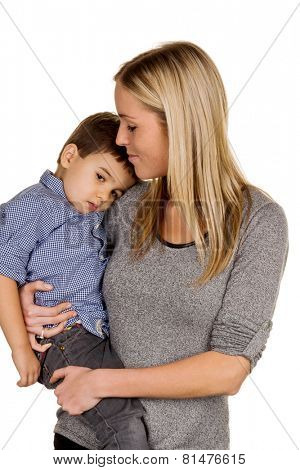 mother and son symbol of love, care, single mother