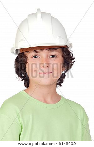Beautiful Child With Helmet