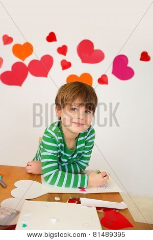 Kids Engaged In Valentine's Day Arts With Hearts
