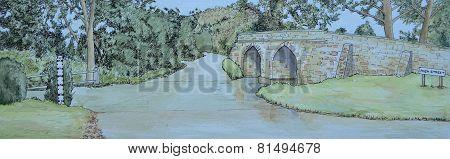 Sutton Splash and Historic Packhorse Bridge