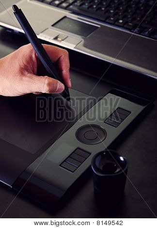 Operation Of The Designer With A Tablet
