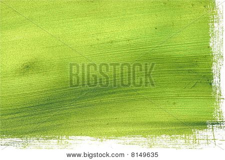 Green Coconut Paper With Grunge Edge Isolated