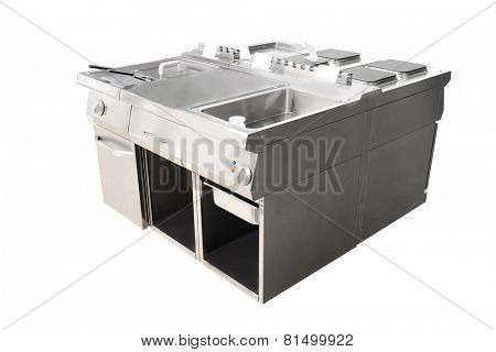 image of a deep fryer and restaurant stove