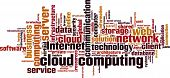 Cloud Computing word cloud. Isolated on white poster