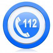 emergency call icon 112 call sign  poster