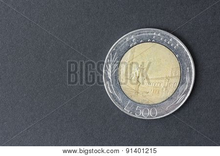 Five Hundred Lire Italian