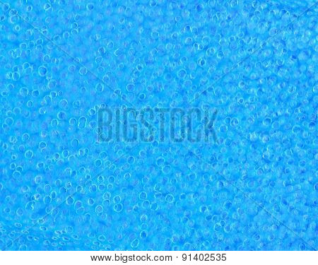 Closeup blue rubber background texture with many air bubbles