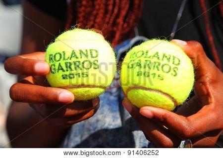 Babolat Roland Garros 2015 tennis ball at Le Stade Roland Garros