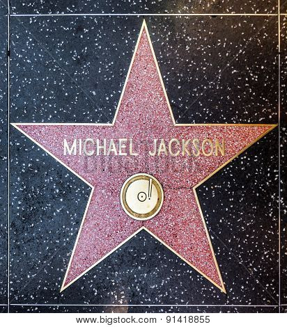 Michael Jackson's Star On Hollywood Walk Of Fame