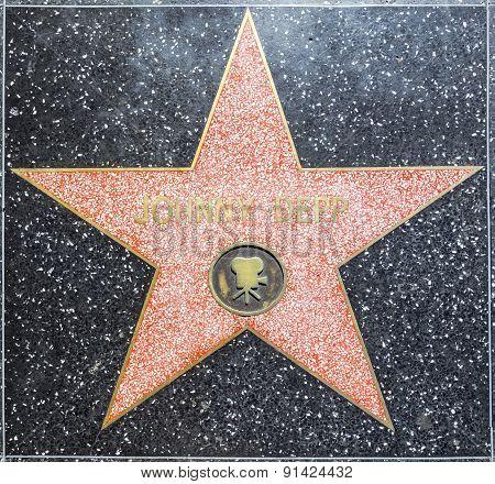 Johnny Depp's Star On Hollywood Walk Of Fame