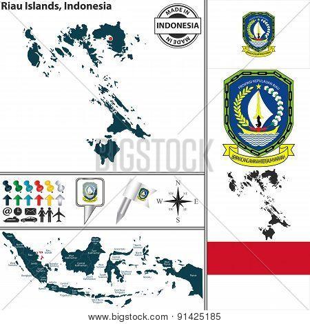 Map Of Riau Islands, Indonesia