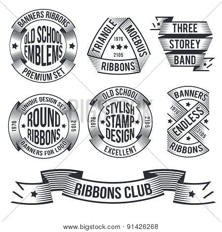 vintage banners ribbons