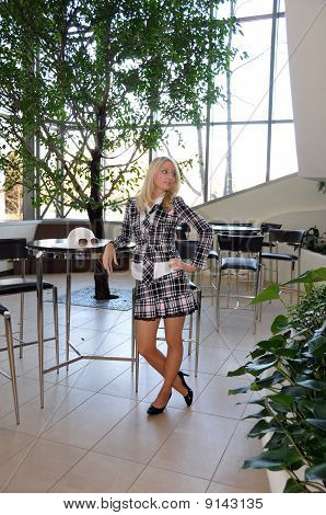 Blond Teen Girl in Fashion Outfit