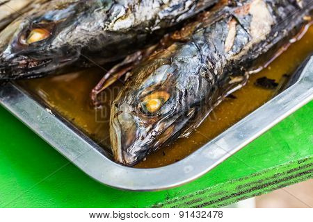 Grilled Fish, Saba Shioyaki Japanese Food