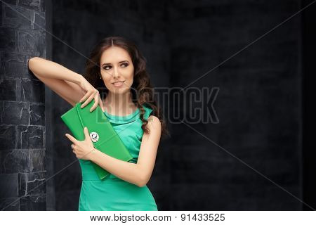 Beautiful Elegant Woman Holding her Purse