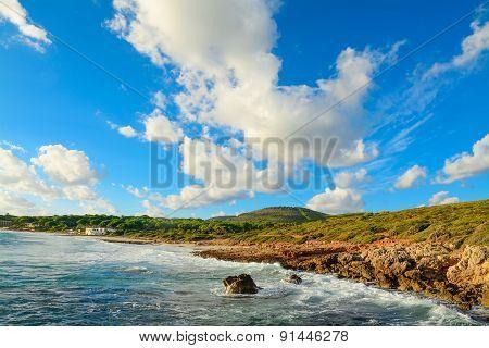 Le Bombarde Beach Under A Cloudy Sky