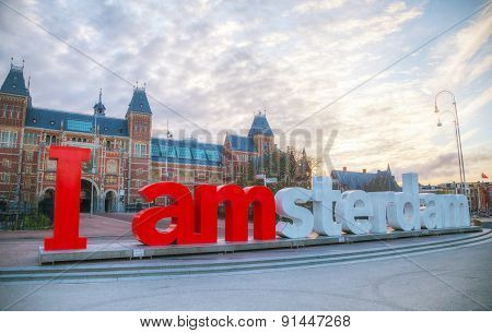 I Amsterdam Slogan Early In The Morning