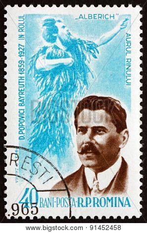 Postage Stamp Romania 1964 Dimitrie Popovici Bayreuth, Operatic Baritone