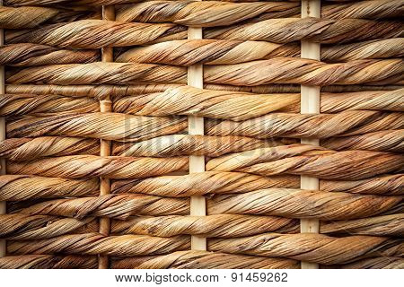 close up woven wicker picnic basket texture poster