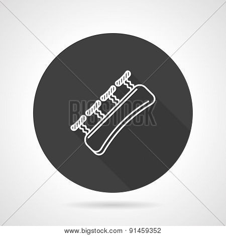 Finger expander black round vector icon