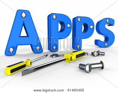 Apps Software Shows Programs Program And Internet