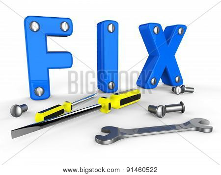 Fix Word Means Mends Mend And Maintenance