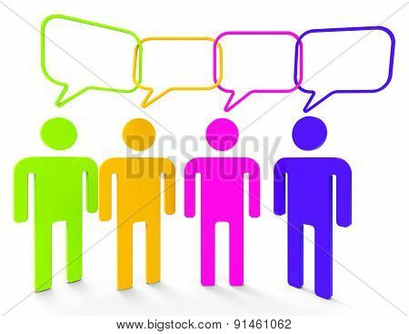 People Speaking Means Point Of View And Belief