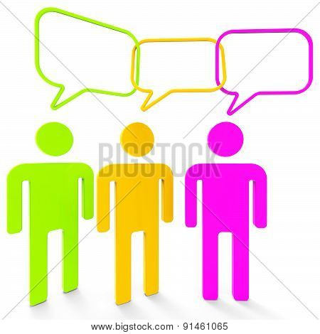 People Speaking Indicates Point Of View And Assumption