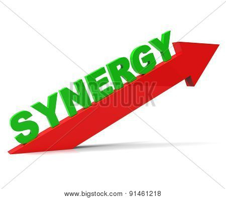 Increase Synergy Indicates Working Together And Collaborate