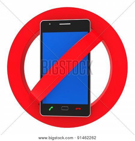 Phones Banned Indicates Prohibit Caution And Safety