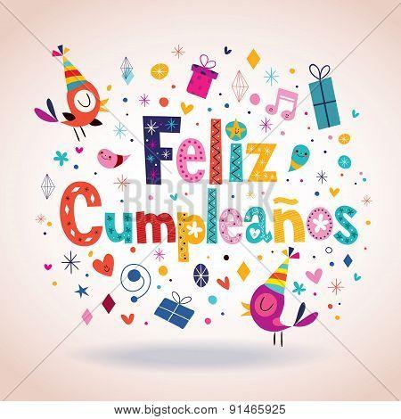 Feliz Cumpleanos - Happy Birthday in Spanish card
