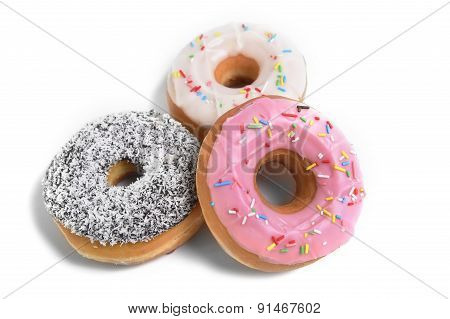 Three Delicious And Tempting Donuts With Different Flavour Donuts And Toppings Sugar Sweet Addiction