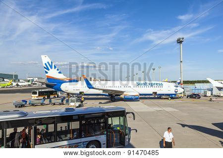 Aircraft On Apron After Landing