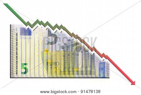 Euro Declining Graph bill