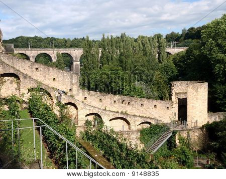 Stierchen-bridge in the Bock Casemates, Luxembourg